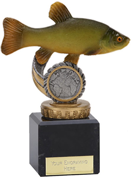 """Tench Plastic Fishing Trophy on Marble Base 12cm (4.75"""")"""