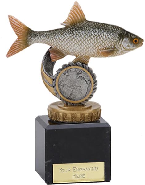 "Roach Plastic Fishing Trophy on Marble Base 12cm (4.75"")"
