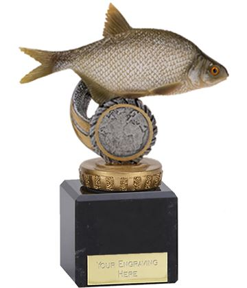 "Bream Plastic Fishing Trophy on Marble Base 12cm (4.75"")"