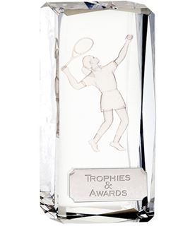 "Optical Crystal Clarity Female Tennis Award 11.5cm (4.5"")"