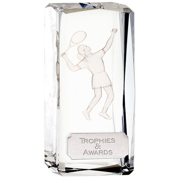 "Optical Crystal Clarity Female Tennis Award 11.5cm (4.5"")"