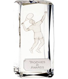 "Optical Crystal Clarity Male Tennis Award 11.5cm (4.5"")"