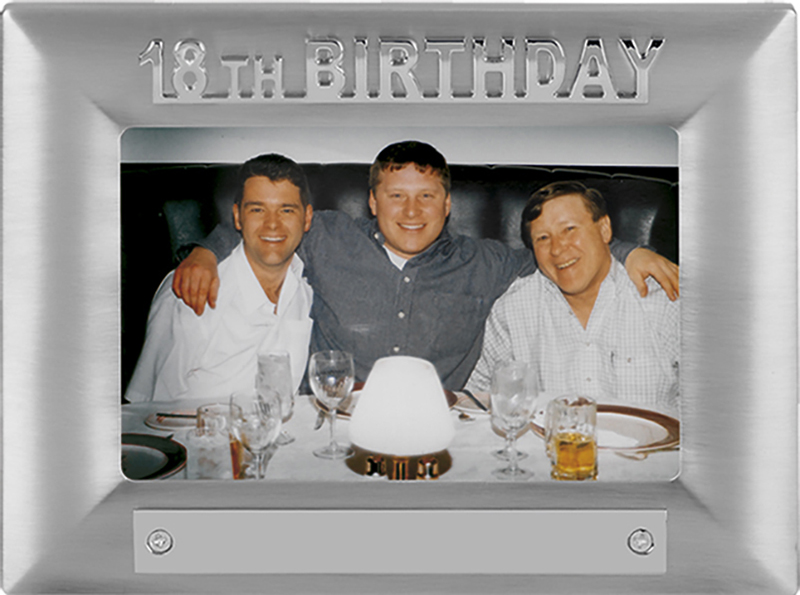Silver Satin Finish 18th Birthday Photo Frame 18cm x 13.5cm