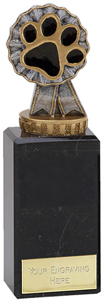 "Dog/Cat Paw Pet Trophy on Marble Base 17cm (6.75"")"