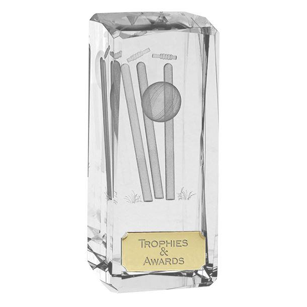 """Clarity Crystal Cricket Glass Award 11.5cm (4.5"""")"""