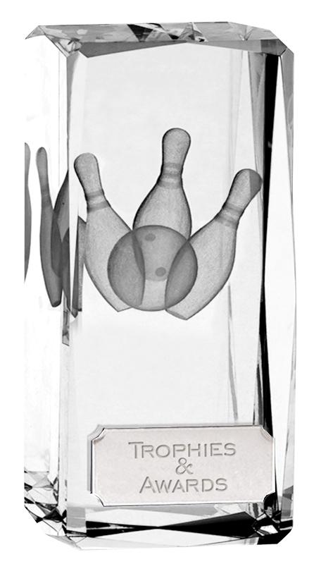 "Optical Crystal Clarity Ten Pin Bowling Award 11.5cm (4.5"")"