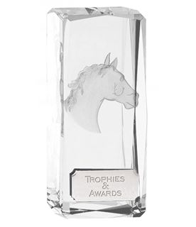 "Optical Crystal Clarity Horse Equestrian Award 11.5cm (4.5"")"
