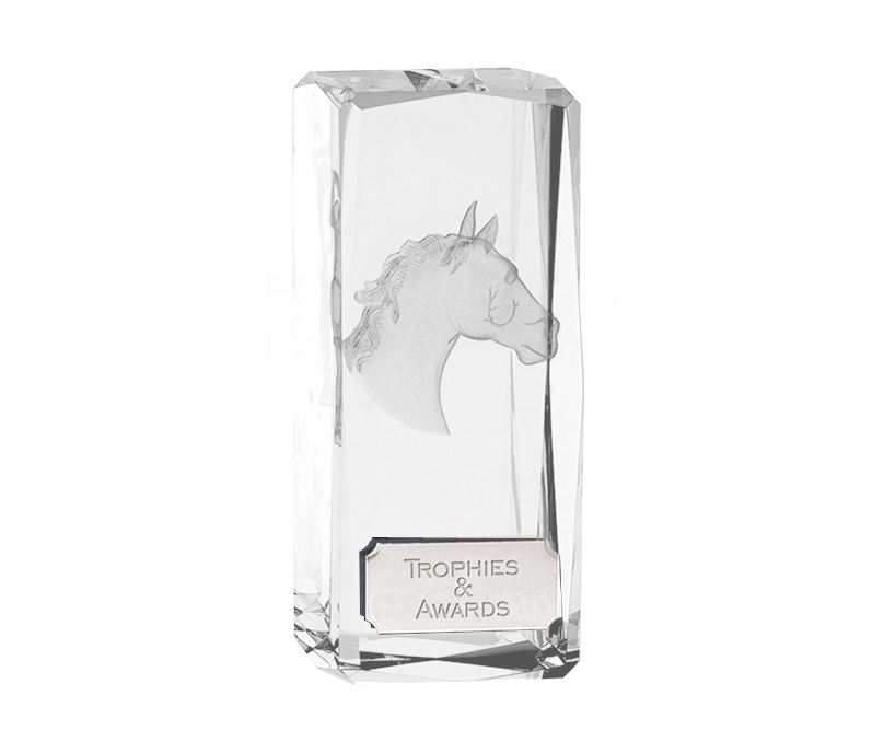 "Optical Crystal Clarity Horse Equestrian Award 11.5cm (4.5"")"