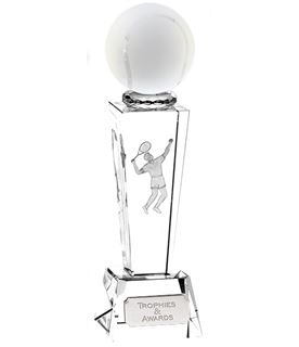 "Optical Crystal Unite Male Tennis Award 21.5cm (8.5"")"