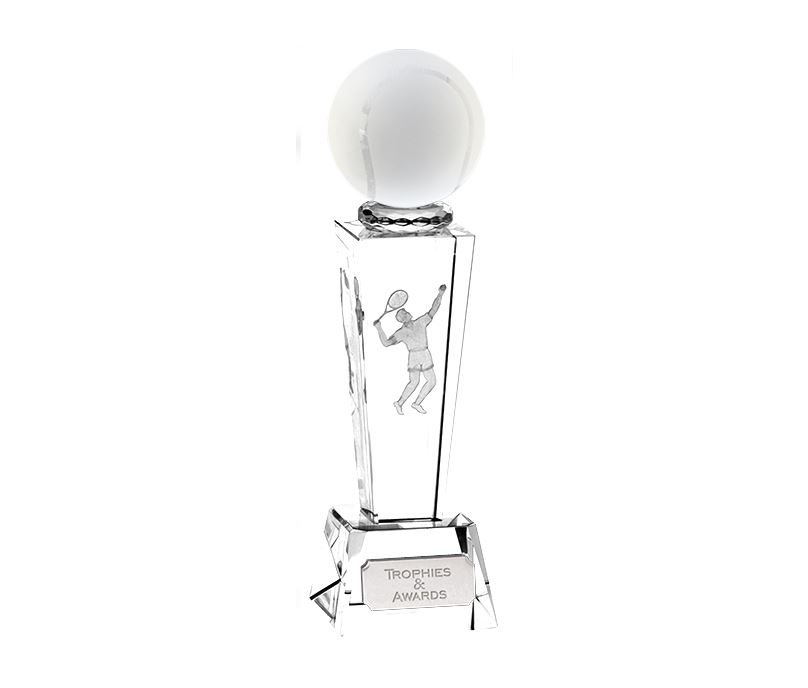 "Optical Crystal Unite Male Tennis Award 21.5cm (8.5"")"