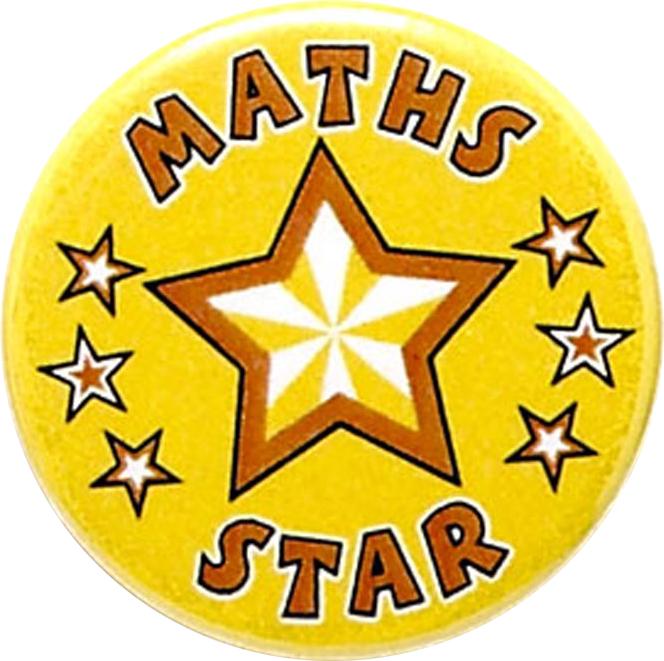 "Maths Star Pin Badge 25mm (1"")"