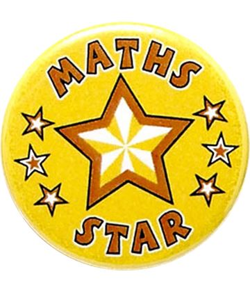 "Maths Star Pin Badge 25mm (1"")"