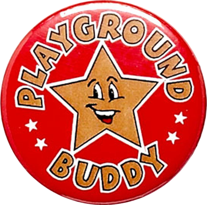 "Playground Buddy Pin Badge 25mm (1"")"