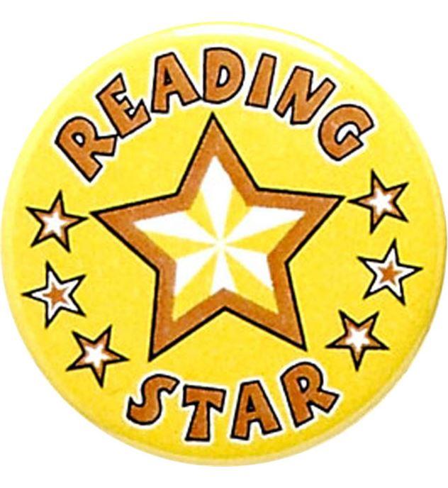 "Reading Star Pin Badge 25mm (1"")"