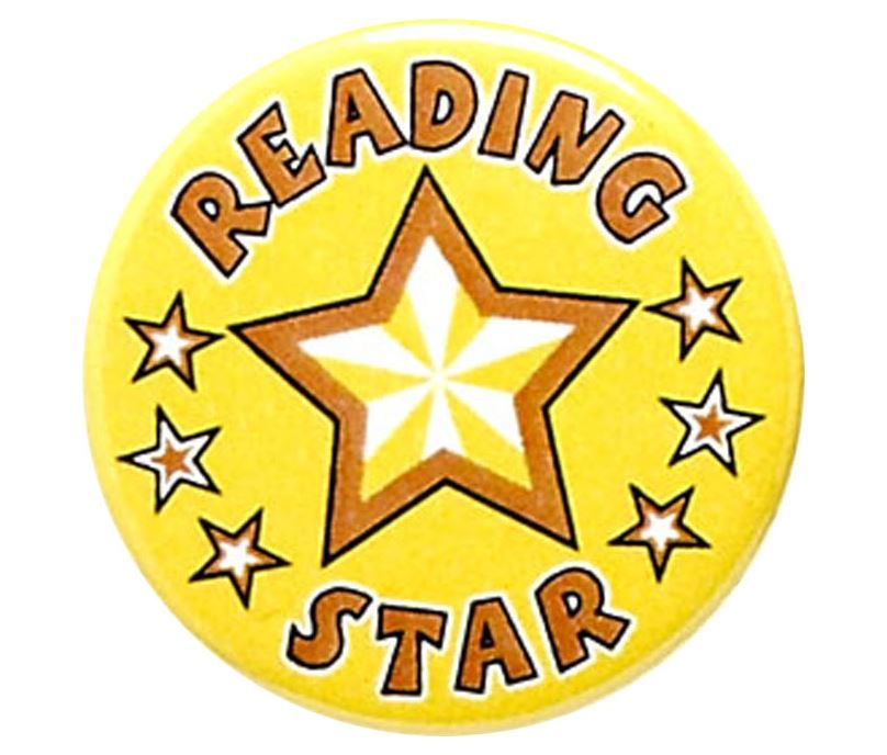 "Reading Star Pin Badge 25mm (1"")"