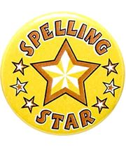 "Spelling Star Pin Badge 25mm (1"")"