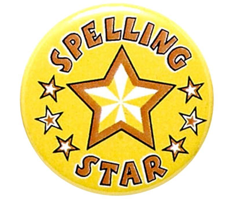 "Spelling Star Pin Badge 25mm (1"")"