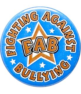 "Fighting Against Bullying Pin Badge 25mm (1"")"
