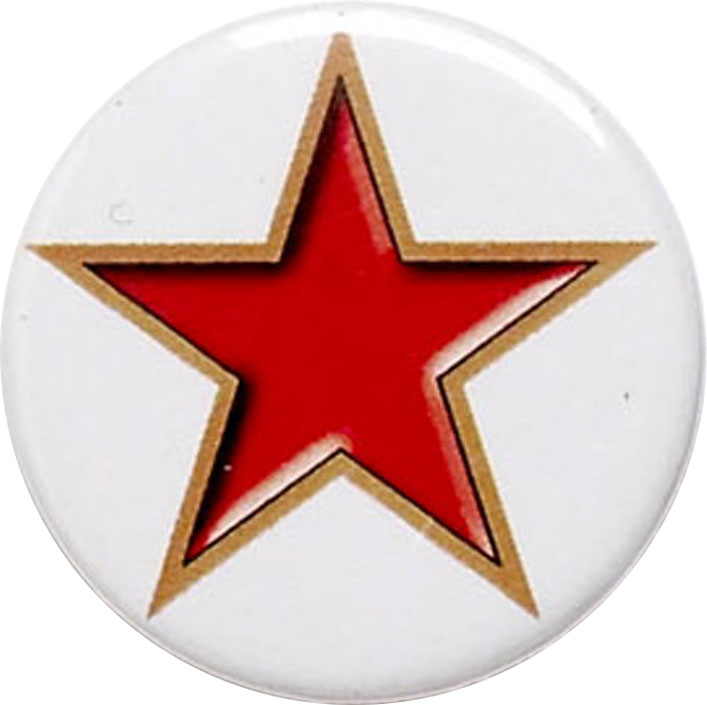 """Red Star Pin Badge 25mm (1"""")"""