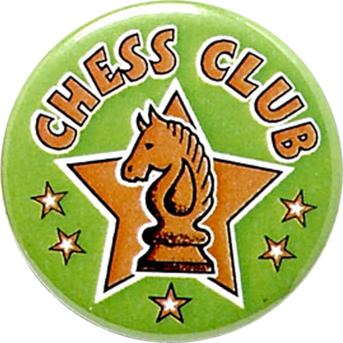 "Green Chess Club Pin Badge 25mm (1"")"