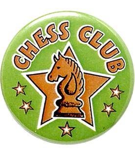 "Green Chess Club Pin Badge 25mm (1"")"