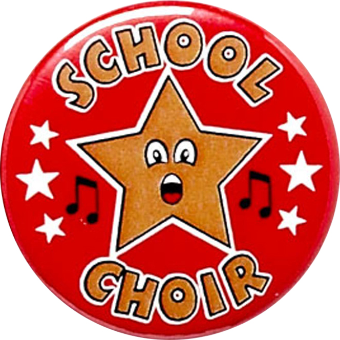 "Red School Choir Pin Badge 25mm (1"")"