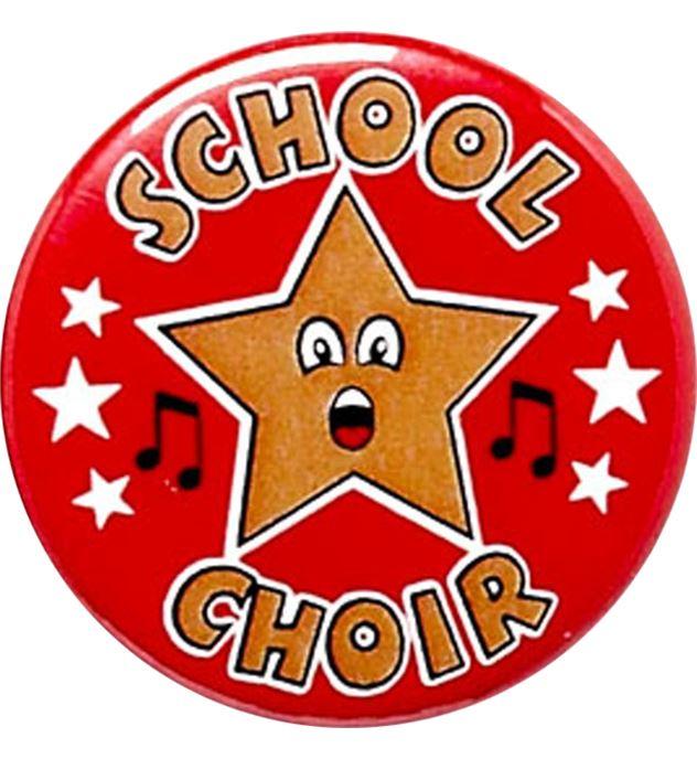 "Red School Choir Pin Badge 25mm (1"")"