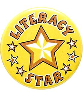 "Literacy Star Pin Badge 25mm (1"")"
