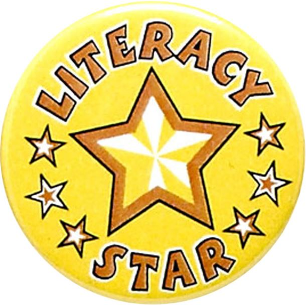 "Literacy Star Pin Badge 25mm (1"")"