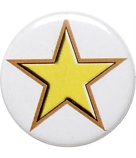 "Yellow Star Pin Badge 25mm (1"")"