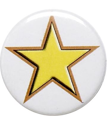 "Yellow Star Pin Badge 25mm (1"")"