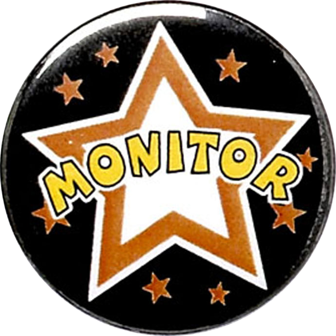 "Monitor Pin Badge 25mm (1"")"