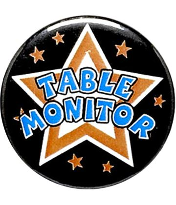 "Table Monitor Pin Badge 25mm (1"")"