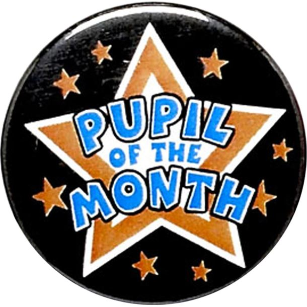 """Pupil of the Month Pin Badge 25mm (1"""")"""