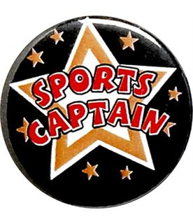"Sports Captain Pin Badge 25mm (1"")"