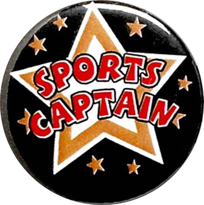 "Sports Captain Pin Badge 25mm (1"")"
