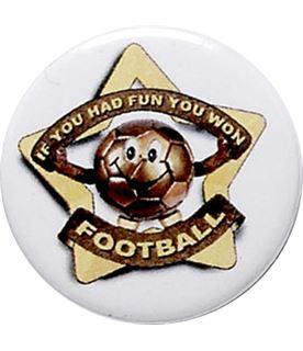 "White Football Pin Badge 25mm (1"")"