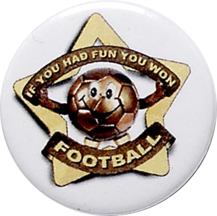 "White Football Pin Badge 25mm (1"")"