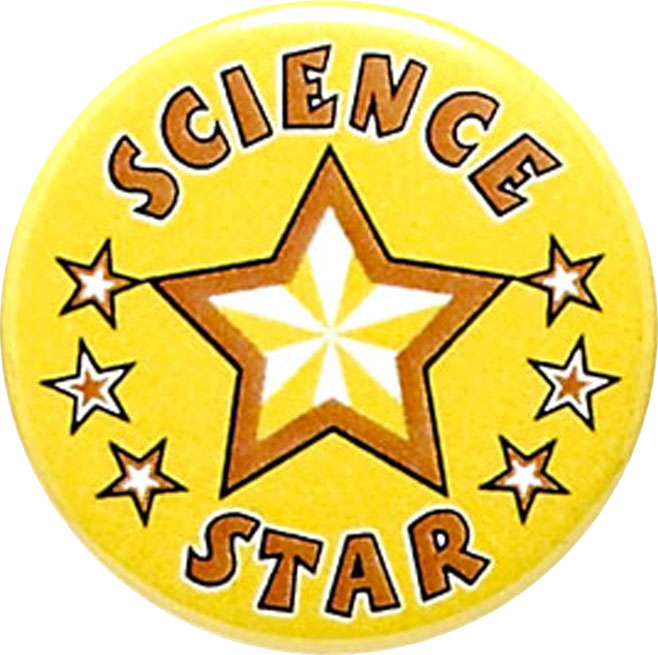 "Science Star Pin Badge 25mm (1"")"