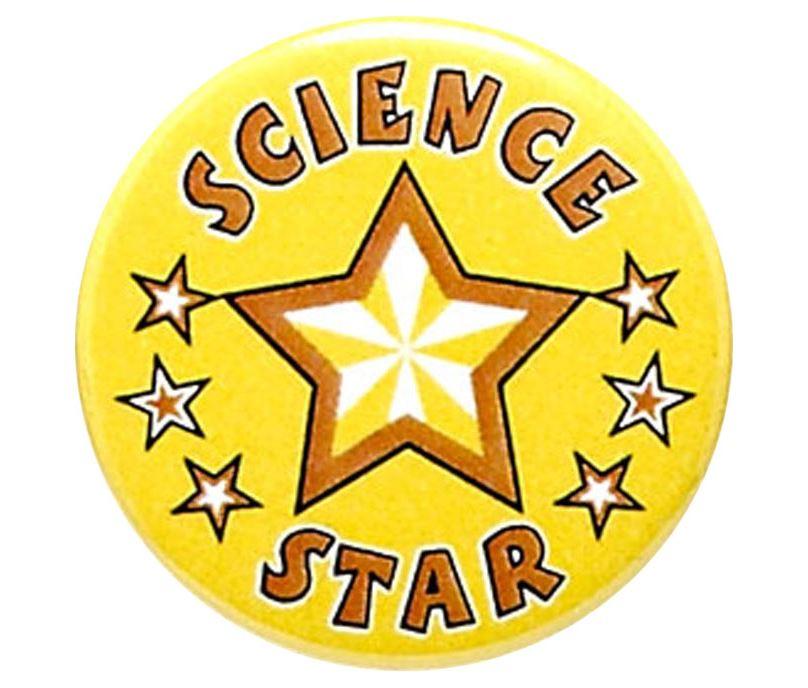 "Science Star Pin Badge 25mm (1"")"