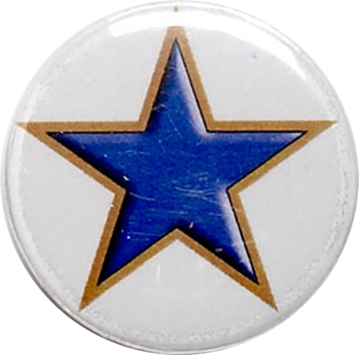 "Blue Star Pin Badge 25mm (1"")"
