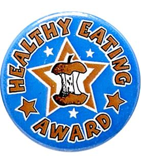 "Healthy Eating Award Pin Badge 25mm (1"")"