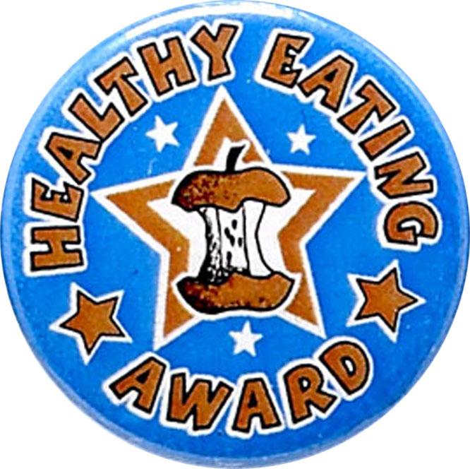 """Healthy Eating Award Pin Badge 25mm (1"""")"""