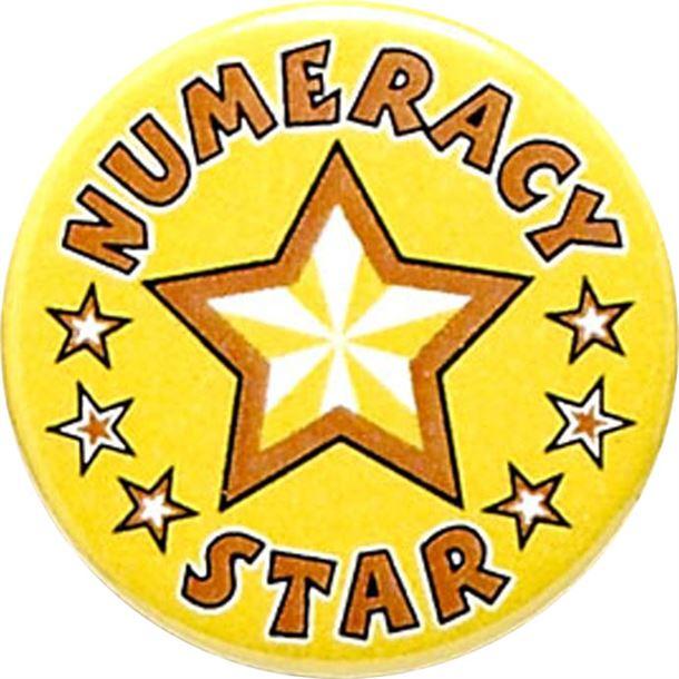 "Numeracy Star Pin Badge 25mm (1"")"