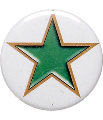 "Green Star Pin Badge 25mm (1"")"