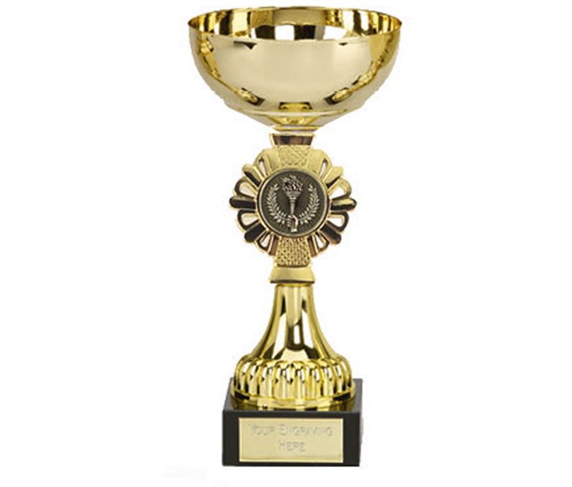 "Shield Gold Presentation Cup 17cm (6.75"")"