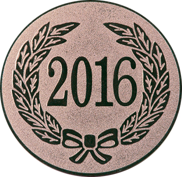 "Bronze Metal 2016 1"" Centre Disc"