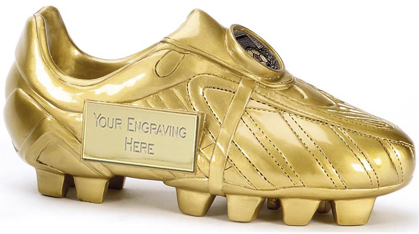 "Premier Golden Boot Resin Football Trophy 12.5cm (5"")"