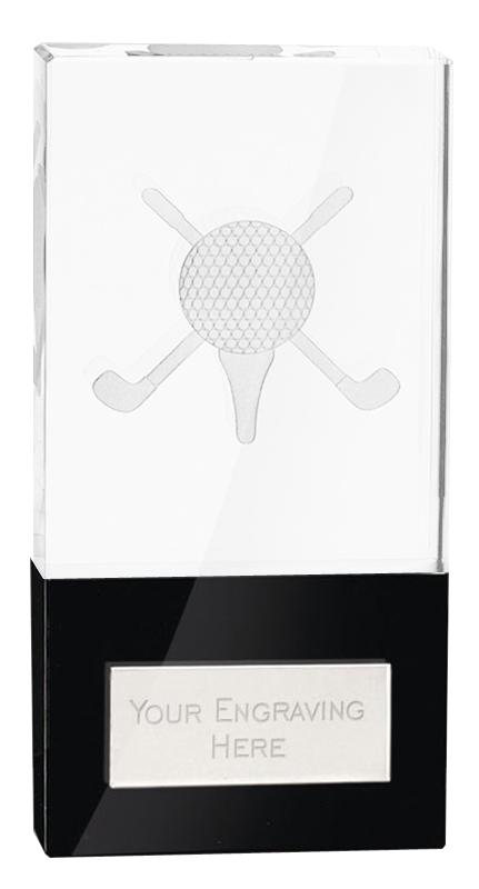 "London Golfball Crystal Award 10cm (4"")"