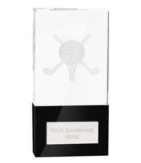 "London Golfball Crystal Award 14cm (5.5"")"